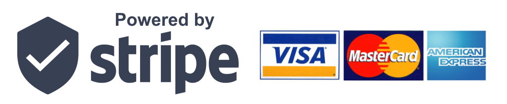 Payments secured by Stripe